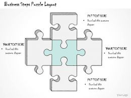 1814 Business Ppt Diagram Business Steps Puzzle Layout Powerpoint Template