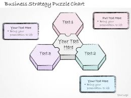 1814 Business Ppt Diagram Business Strategy Puzzle Chart Powerpoint Template