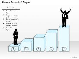 1814 Business Ppt Diagram Business Success Path Diagram Powerpoint Template
