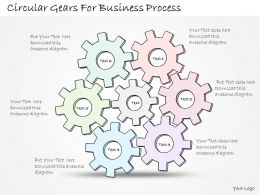 1814 Business Ppt Diagram Circular Gears For Business Process Powerpoint Template