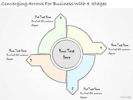 1814 Business Ppt Diagram Converging Arrows For Business With 4 Stages Powerpoint Template