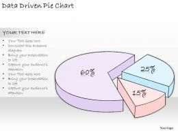 1814 Business Ppt Diagram Data Driven Pie Chart Powerpoint Template