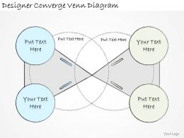 1814 Business Ppt Diagram Designer Converge Venn Diagram Powerpoint Template