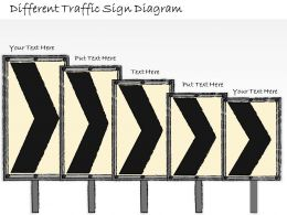 1814 Business Ppt Diagram Different Traffic Sign Diagram Powerpoint Template