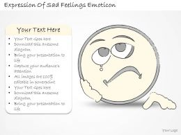 1814 Business Ppt Diagram Expression Of Sad Feelings Emoticon Powerpoint Template