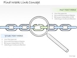 1814_business_ppt_diagram_find_weak_link_concept_powerpoint_template_Slide01