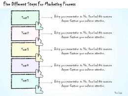 1814 Business Ppt Diagram Five Different Steps For Marketing Process Powerpoint Template