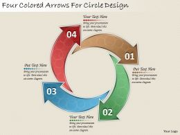 1814 Business Ppt Diagram Four Colored Arrows For Circle Design Powerpoint Template