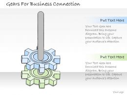 1814 Business Ppt Diagram Gears For Business Connection Powerpoint Template