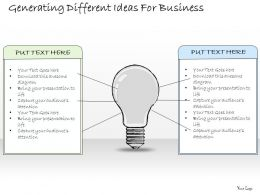 1814 Business Ppt Diagram Generating Different Ideas For Business Powerpoint Template