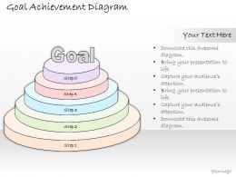 1814 Business Ppt Diagram Goal Achievement Diagram Powerpoint Template
