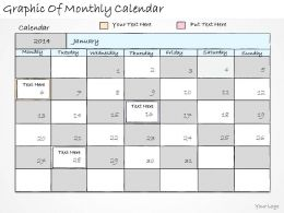 1814 Business Ppt Diagram Graphic Of Monthly Calendar Powerpoint Template
