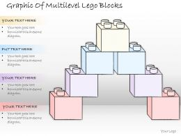 1814 Business Ppt Diagram Graphic Of Multilevel Lego Blocks Powerpoint Template