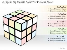 1814 Business Ppt Diagram Graphic Of Rubik Cube For Process Flow Powerpoint Template