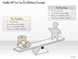 1814 Business Ppt Diagram Graphic Of See Saw For Balance Concept Powerpoint Template