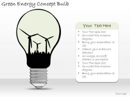 1814 Business Ppt Diagram Green Energy Concept Bulb Powerpoint Template