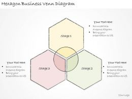 1814 Business Ppt Diagram Hexagon Business Venn Diagram Powerpoint Template