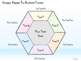 1814 Business Ppt Diagram Hexagon Diagram For Business Process Powerpoint Template