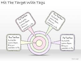 1814_business_ppt_diagram_hit_the_target_with_tags_powerpoint_template_Slide01