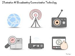 1814 Business Ppt Diagram Illustration Of Broadcasting Communication Technology Powerpoint Template