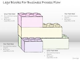 1814 Business Ppt Diagram Lego Blocks For Business Process Flow Powerpoint Template