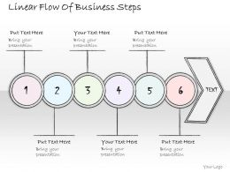 1814 Business Ppt Diagram Linear Flow Of Business Steps Powerpoint Template