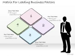 1814 Business Ppt Diagram Matrix For Leading Business Factors Powerpoint Template
