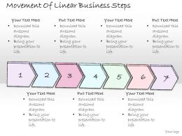 1814_business_ppt_diagram_movement_of_linear_business_steps_powerpoint_template_Slide01