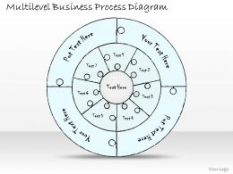 1814 Business Ppt Diagram Multilevel Business Process Diagram Powerpoint Template