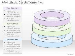 1814 Business Ppt Diagram Multilevel Circle Diagram Powerpoint Template