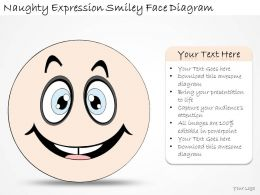 1814_business_ppt_diagram_naughty_expression_smiley_face_diagram_powerpoint_template_Slide01