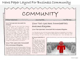 1814 Business Ppt Diagram News Paper Layout For Business Community Powerpoint Template