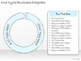 1814 Business Ppt Diagram One Cycle Business Diagram Powerpoint Template