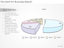 1814 Business Ppt Diagram Pie Chart For Business Result Powerpoint Template