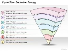 1814 Business Ppt Diagram Pyramid Chart For Business Strategy Powerpoint Template
