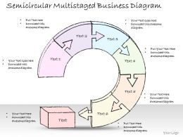 1814 Business Ppt Diagram Semicircular Multistaged Business Diagram Powerpoint Template