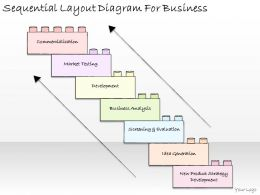 1814 Business Ppt Diagram Sequential Layout Diagram For Business Powerpoint Template