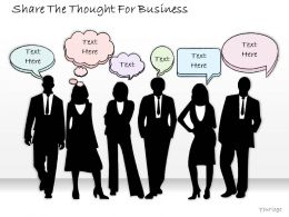 1814 Business Ppt Diagram Share The Thought For Business Powerpoint Template