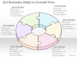 1814 Business Ppt Diagram Six Business Steps In Circular Flow Powerpoint Template