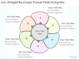 1814 Business Ppt Diagram Six Staged Business Flower Petal Diagram Powerpoint Template