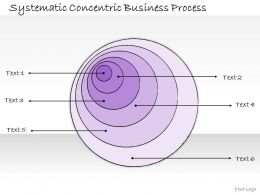 1814 Business Ppt Diagram Systematic Concentric Business Process Powerpoint Template