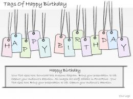 1814 Business Ppt Diagram Tags Of Happy Birthday Powerpoint Template