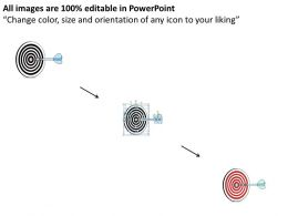 1814 Business Ppt Diagram Target Dart For Business And Sales Powerpoint Template