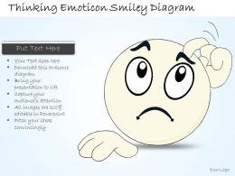 1814 Business Ppt Diagram Thinking Emoticon Smiley Diagram Powerpoint Template