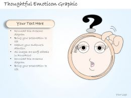 1814 Business Ppt Diagram Thoughtful Emoticon Graphic Powerpoint Template