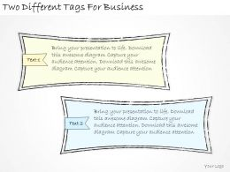 1814 Business Ppt Diagram Two Different Tags For Business Powerpoint Template