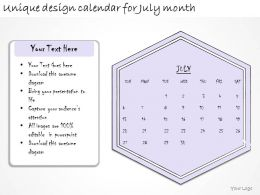 1814 Business Ppt Diagram Unique Design Calendar For July Month Powerpoint Template