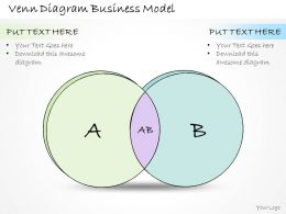 1814 Business Ppt Diagram Venn Diagram Business Model Powerpoint Template