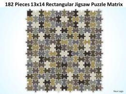 182 Pieces 13x14 Rectangular Jigsaw Puzzle Matrix Powerpoint templates 0812