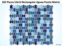 182 Pieces 14x13 Rectangular Jigsaw Puzzle Matrix Powerpoint templates 0812
